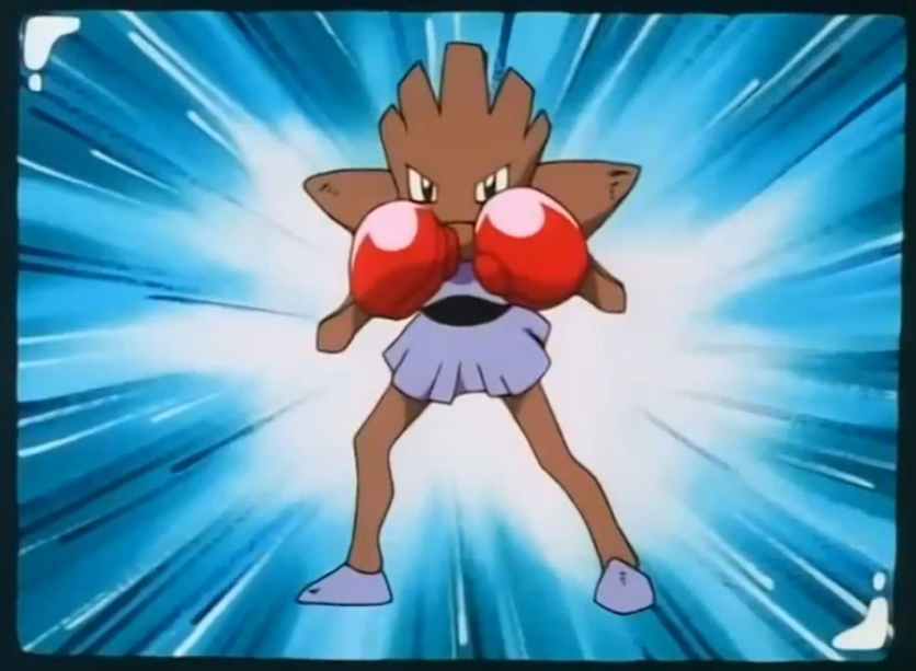 Bruno's Hitmonchan was seen as a combatant on TV with Bruno himself.