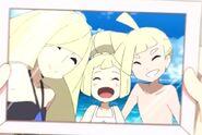 Лусамина,Гладион и Лили на семейном фото