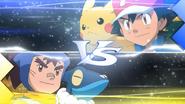 Ash VS Sanpei XY017
