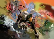 Houndoom Undaunted TCG artwork