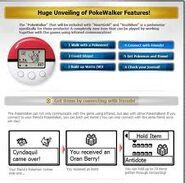 Pokewalker Features