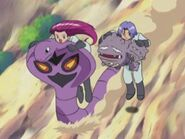 Weezing and Arbok with Jessie and James