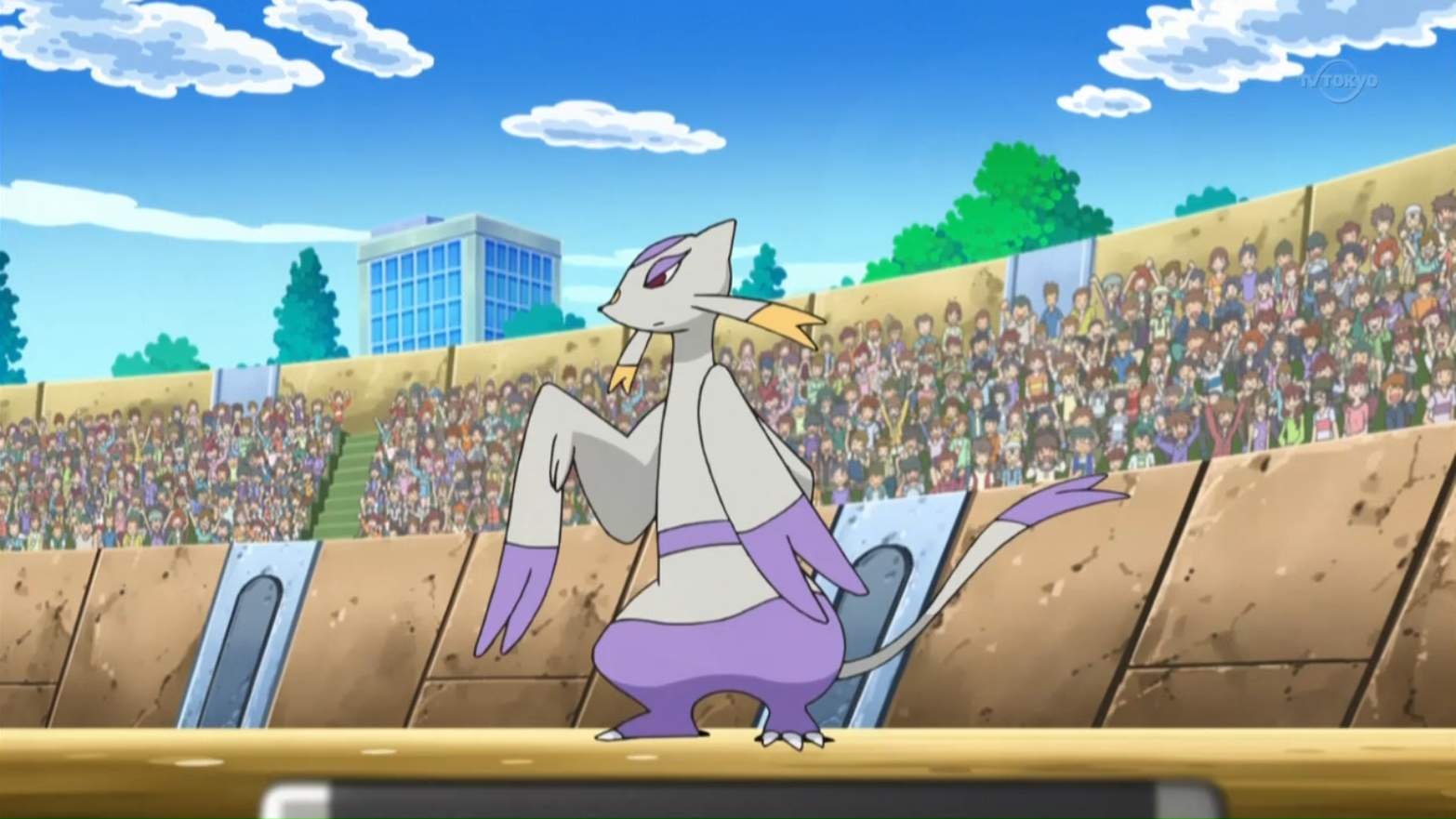 Delbert sent Mienshao to battle Throh, but it was defeated.