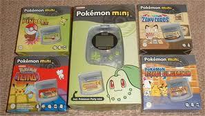 Pokémon Mini Cartridges (U.K.)