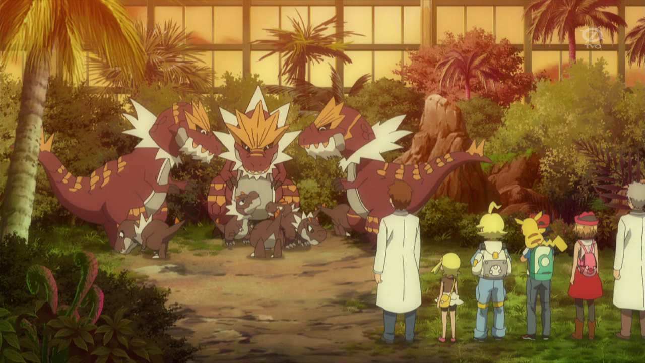 Several Turunt appeared with the other Tyrantrum when Ash and his friends visited the lab.