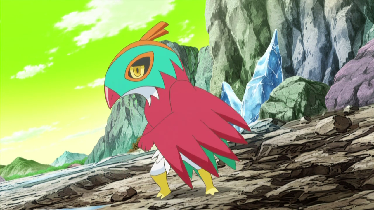 A Pokémon owned by Mirror Ash. It is shown to be very cowardly, the opposite of Ash's Hawlucha.