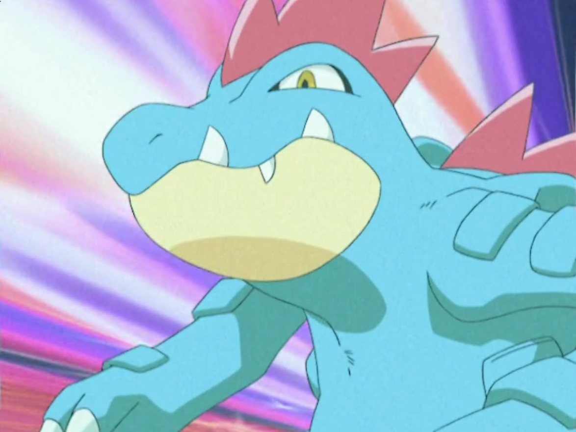 """Wani-Wani was Marina's starter Pokémon that she received from Professor Elm when she started her journey. It first appeared in """"The Legend of Thunder"""" as a Croconaw to battle Jimmy's Typhlosion, but it was easily defeated, despite the type advantage. It then made a cameo in """"Pokémon Ranger and the Temple of the Sea"""" in the opening credits. It made its final appearance in """"A Stand-Up Sit-Down!"""" as a Feraligatr on an internet broadcast explaining double contest performances."""