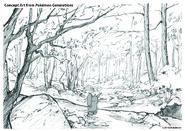 Pokémon Generations Concept Art Viridian Forest