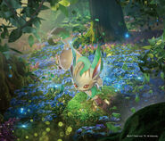 Leafeon Sun and Moon Ultra Prism