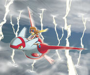 Riding Latias - Pokemon Ranger Guardian Signs