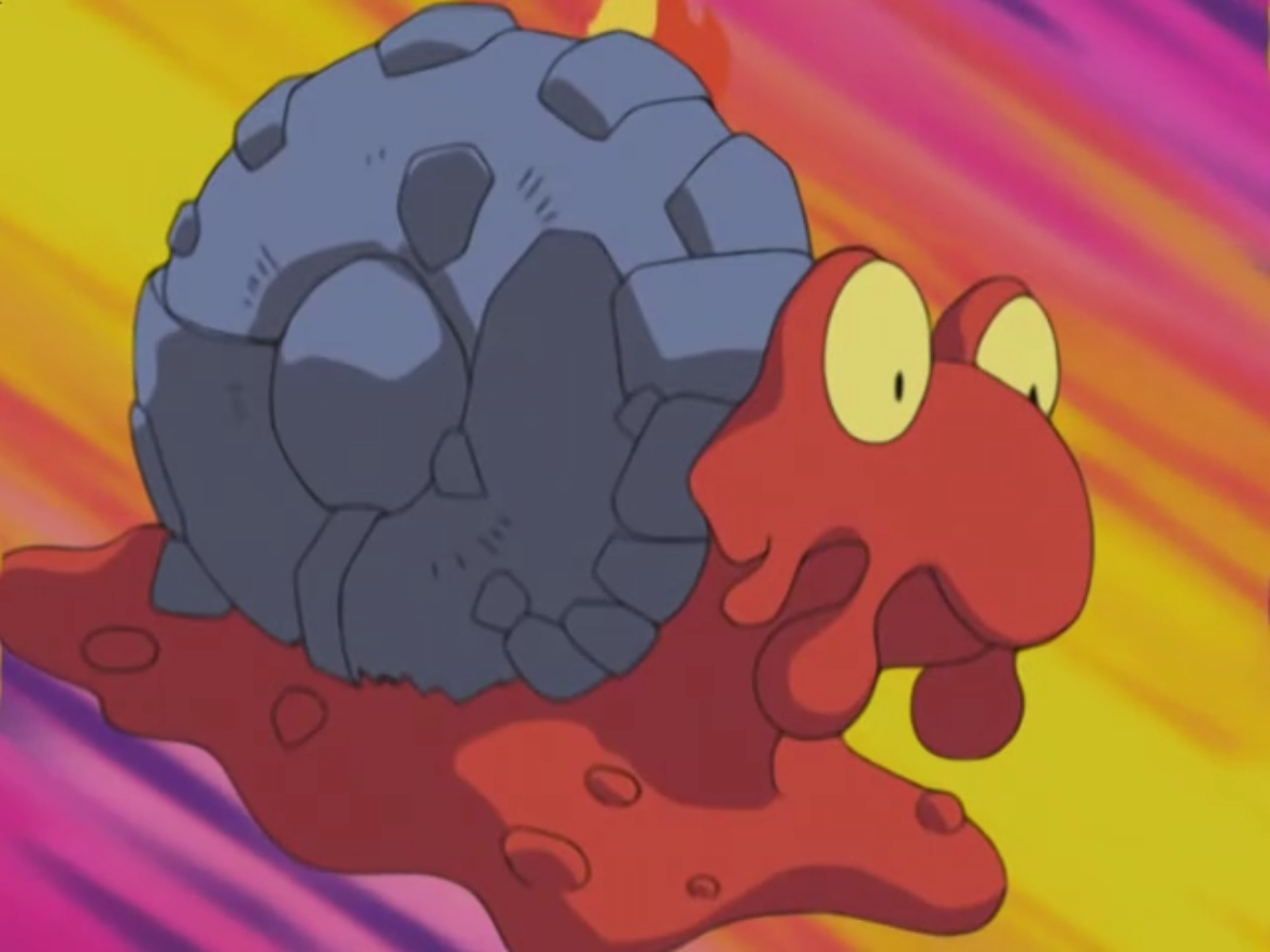 Mag was Flannery's Slugma, who evolved into a Magcargo, during the battle with Team Rocket. Flannery also used Mag in the Gym battle against Ash's Corphish.