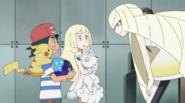 Ash with Lusamine and Lillie