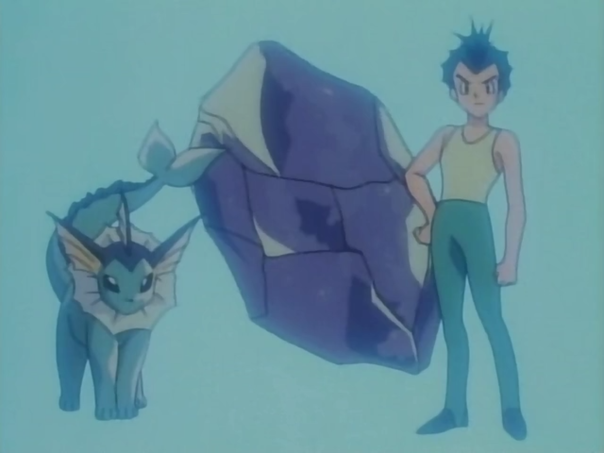 Rainer evolved his Eevee into a Vaporeon using a Water Stone.