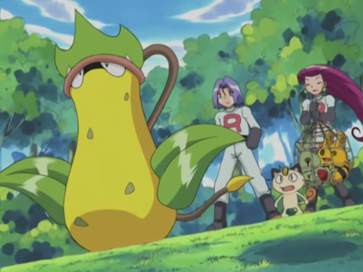 He traded James' Victreebel for his Weepinbell which then evolved, but was sent away by Arbok after attempting to bite down on Jessie.
