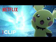 Pichu Evolves Into Pikachu ⚡ Pokémon Journeys- The Series - Netflix Futures