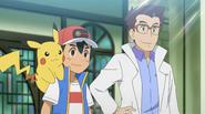 Ash and Professor Cerise
