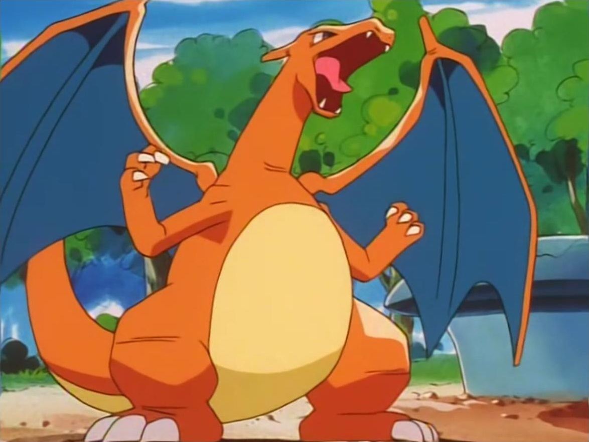 Charizard is one of the Battle Park's Pokémon. Jessie used it in battle against Ash's Totodile and lost.