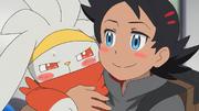 Goh hugging Raboot