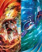 Kyogre and Groudon Pokemon TCG XY Primal Clash