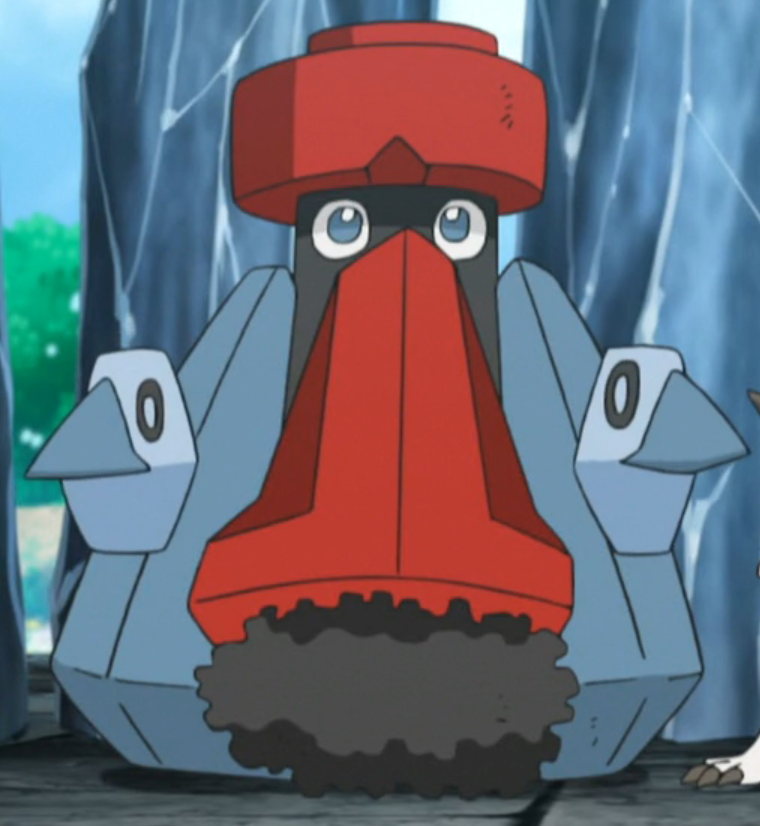 Probobpass was sent to battle Ash in a Double Battle during the Grand Trial.