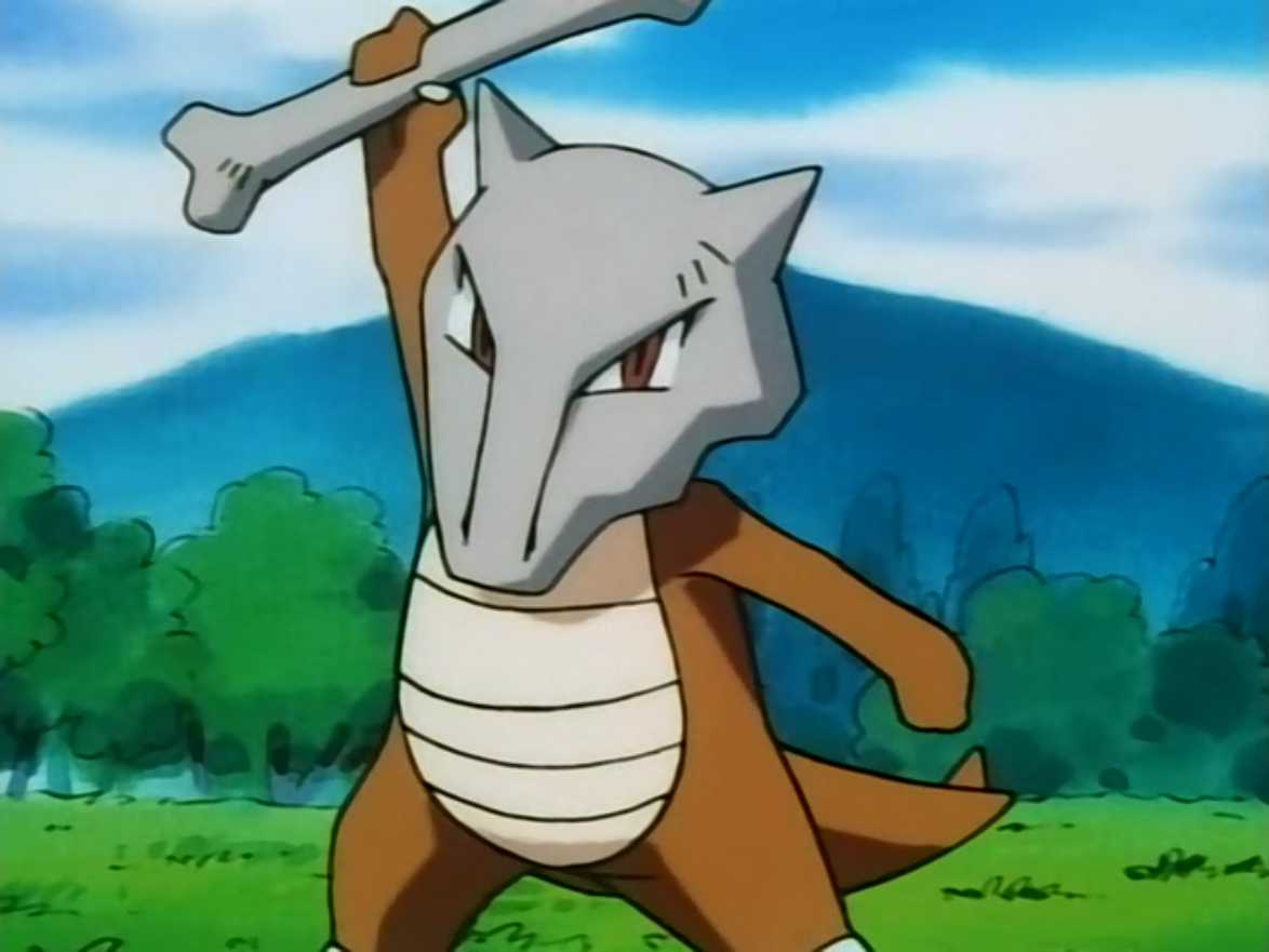 Otoshi's Marowak is used in a battle against Ash's Bulbasaur and Pikachu. However, after defeating Bulbasaur, it is quickly defeated by Pikachu. After realising that all of its hard work earning the badges was lost after Otoshi's were stolen, it left him. It eventually came back after thinking about the training it went through with Otoshi and saved the day from Team Rocket.