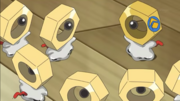 Ash's Meltan with friends
