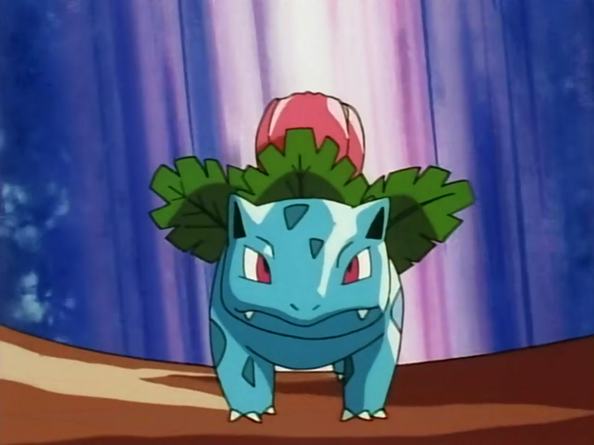 Ivysaur was the final Pokémon that Assunta sent out to battle against Ritchie during her battle with him at the Pokémon Leauge. Ivysaur was able to defeat Sparky to allow Assunta to advance to the next round.
