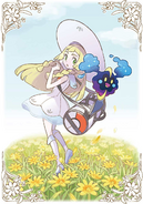 Lillie and cosmog Nebby