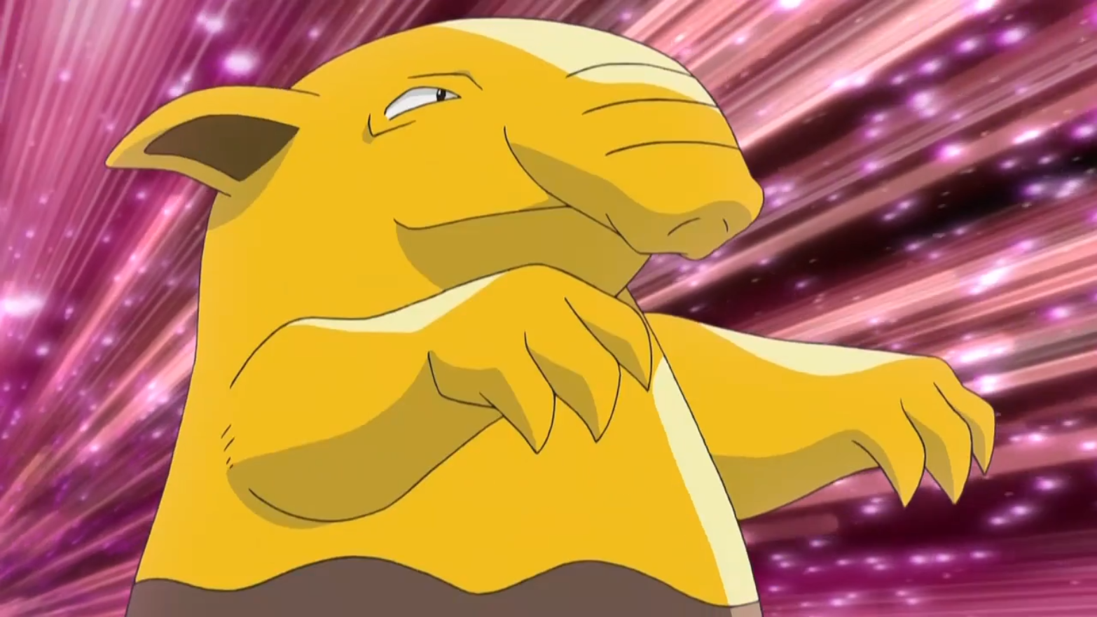Azure's Drowzee participated in the fake Pokémon Hustle event that Team Rocket put on. After stealing the Poké Balls, Drowzee was sent out to protect Azure from Meowth who attempted to recover the 'stolen' Pokémon. Zangoose's X-Scissor quickly defeated Meowth but stalled Crimson and Azure long enough for Officer Jenny and Ash to intercept them. Officer Jenny Growlithe was easily able to defeat Azure's Drowzee.