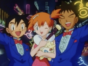 Ash and Brock Suit with Misty Dress
