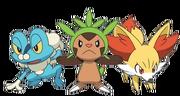 Pokemon XY Anime Kalos Starters