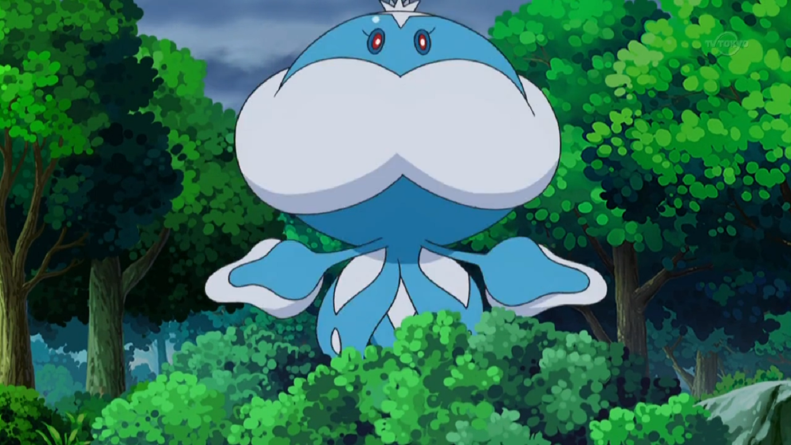 Rizzo owns a male Jellicent which was used to fight Volcarona and Ash's Krokorok.
