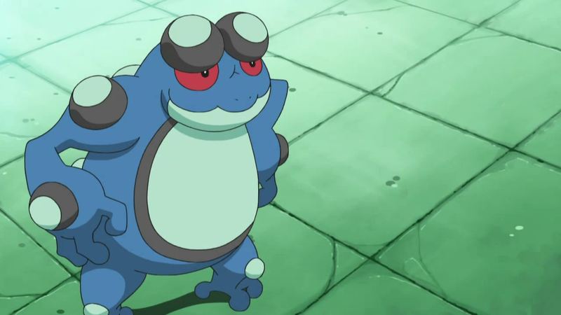 Glenn used Sean's Seismitoad to battle Mick in a Double Battle.