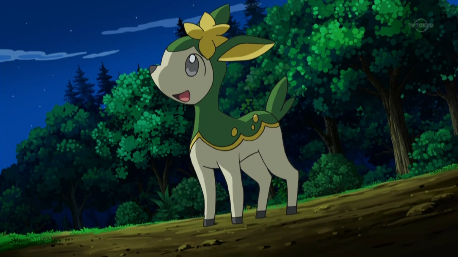 Katharine's Deerling used Aromatherapy to make a wild Garbodor go away.
