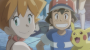 Misty with Ash and Pikachu