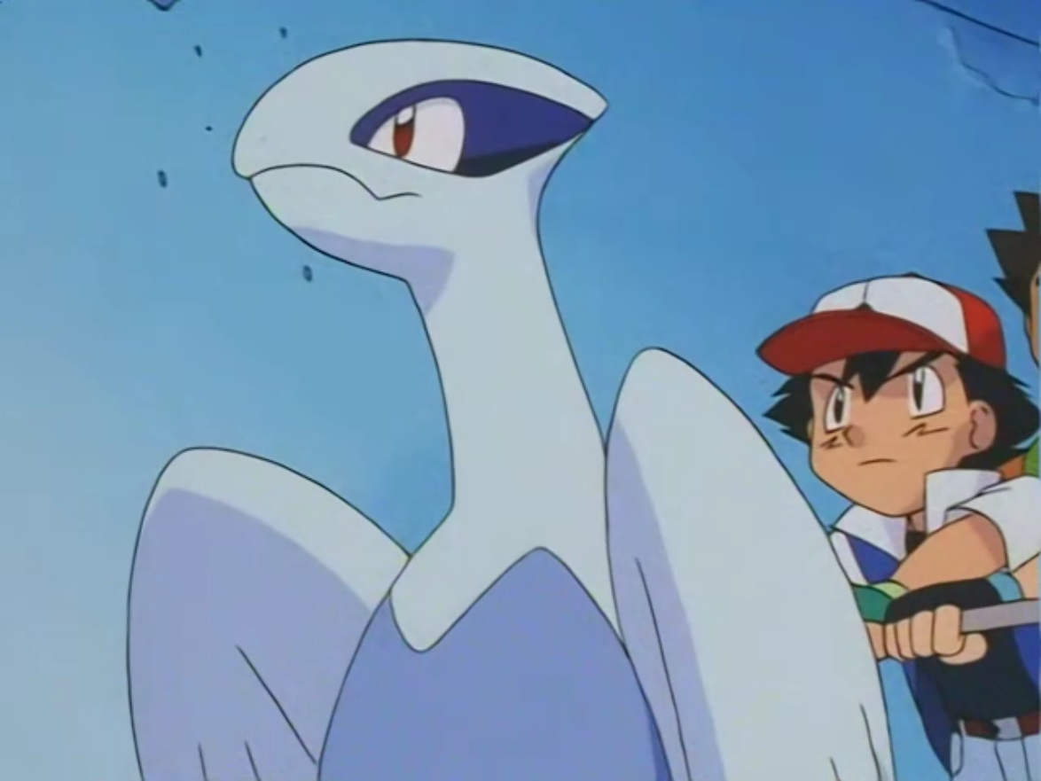 Oliver befriended this young Lugia, nicknaming it Silver. Team Rocket stole it to capture its mother to power up a weapon Dr. Namba created. However, the heroes managed to foil his plans and free Silver.