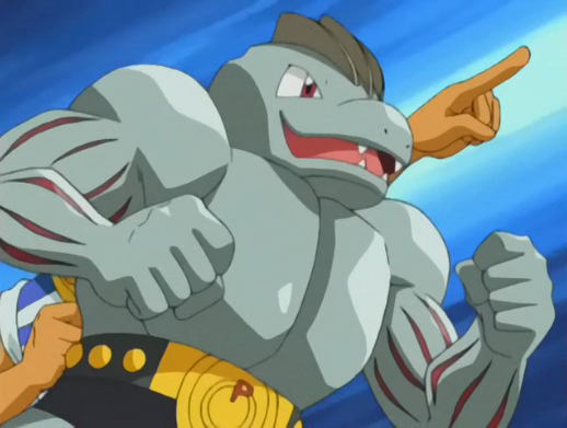 The captain owned a Machoke, who helped him in finding Ash's Pikachu.