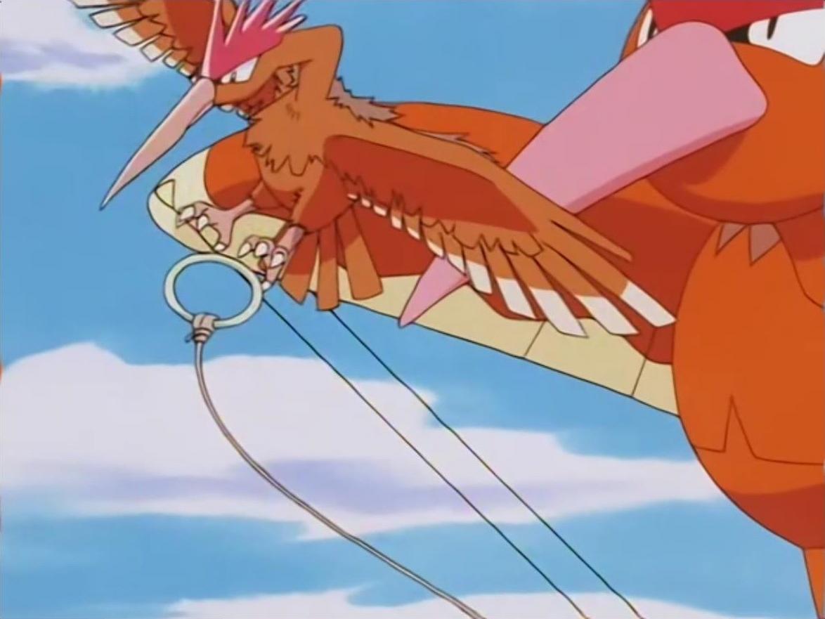 Skyler had a Fearow, who navigated his balloon.