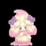 869Alcremie Ruby Swirl Ribbon Sweet Pokémon HOME