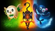 Wallpaper pokemon sun moon starters by arkeis pokemon-da2576v