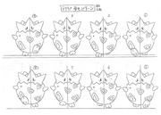 Togepi anime model sheet 3