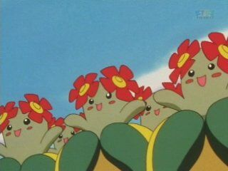 Tammy had a bunch of Bellossom as a part of her cheering squad.