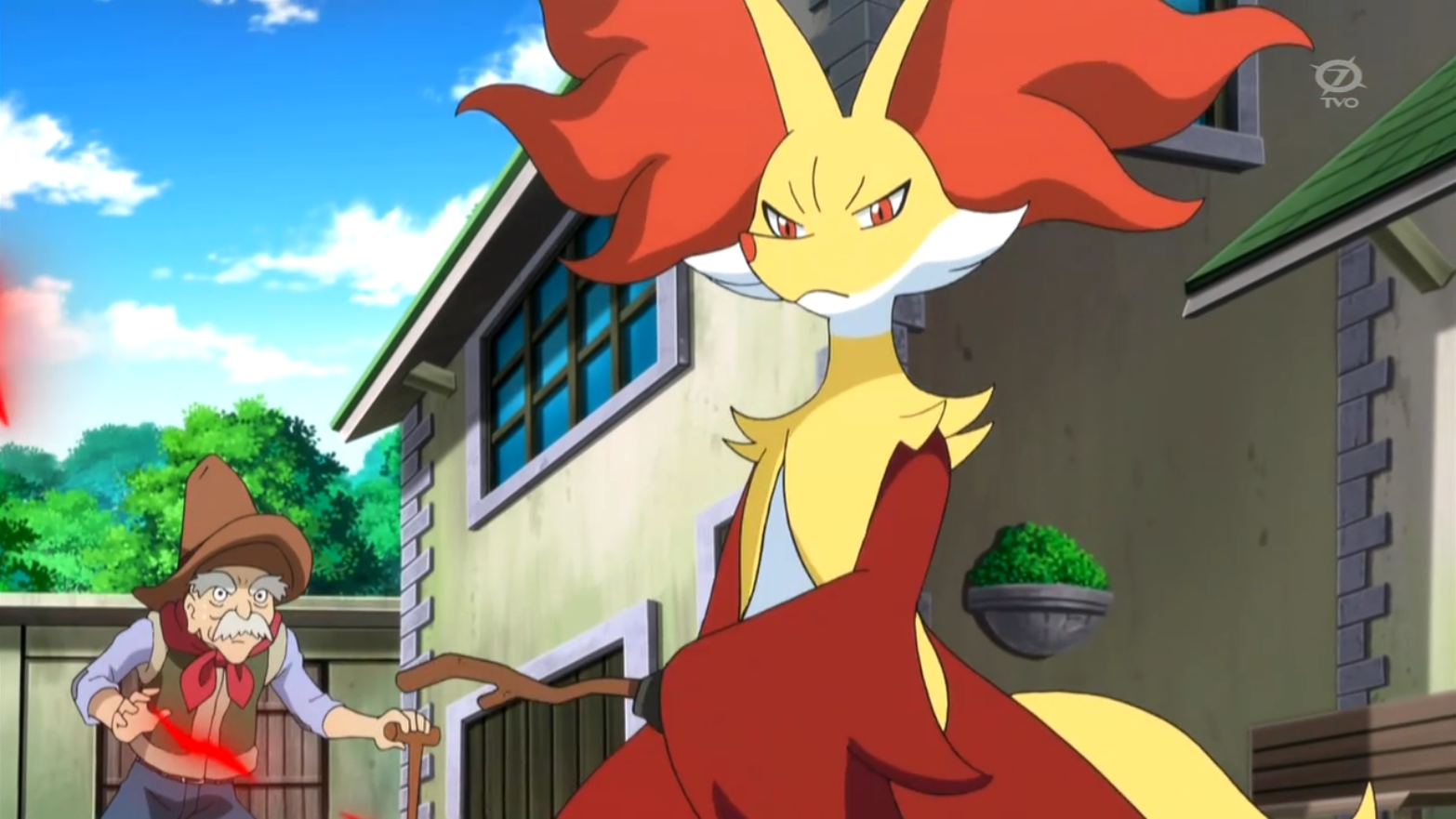 Wylie owned a Delphox and used it in a battle against Carrie's Chespin.