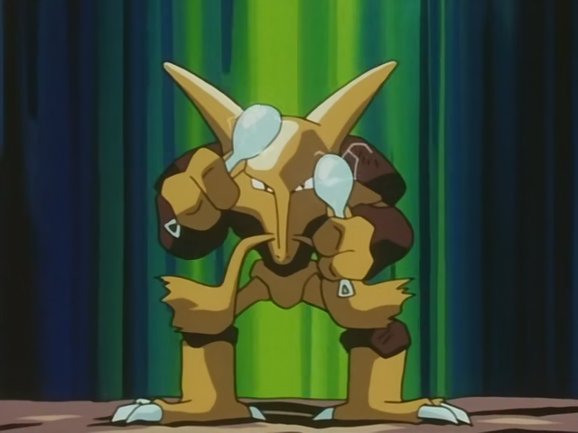 Alex Davis's Alakazam battled Gary's Umbreon. Although Alakazam had a wide variety of moves, it was defeated without causing any damage to the Dark type.