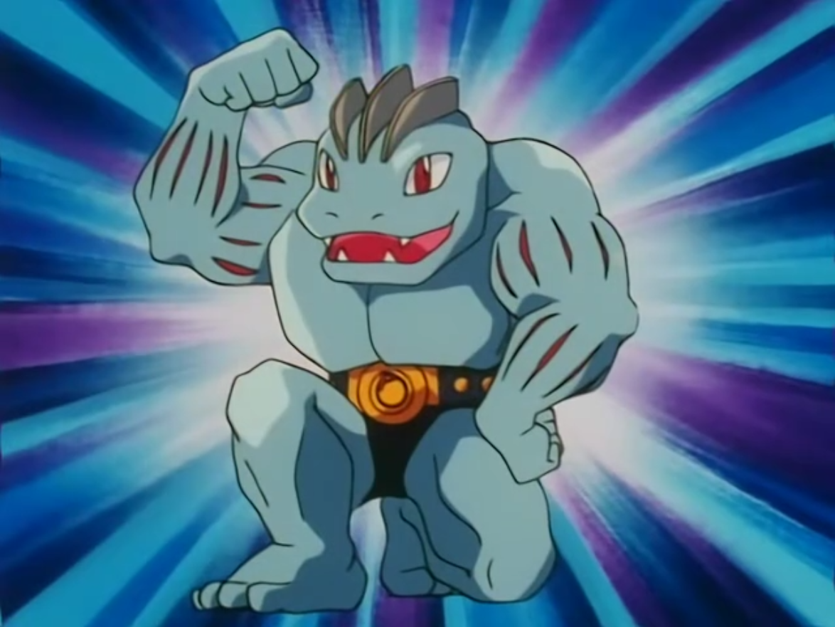 Tetsuya had a Machoke, who caused the trouble in town.