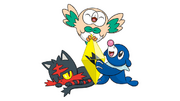 Alola Starters and Z-Moves