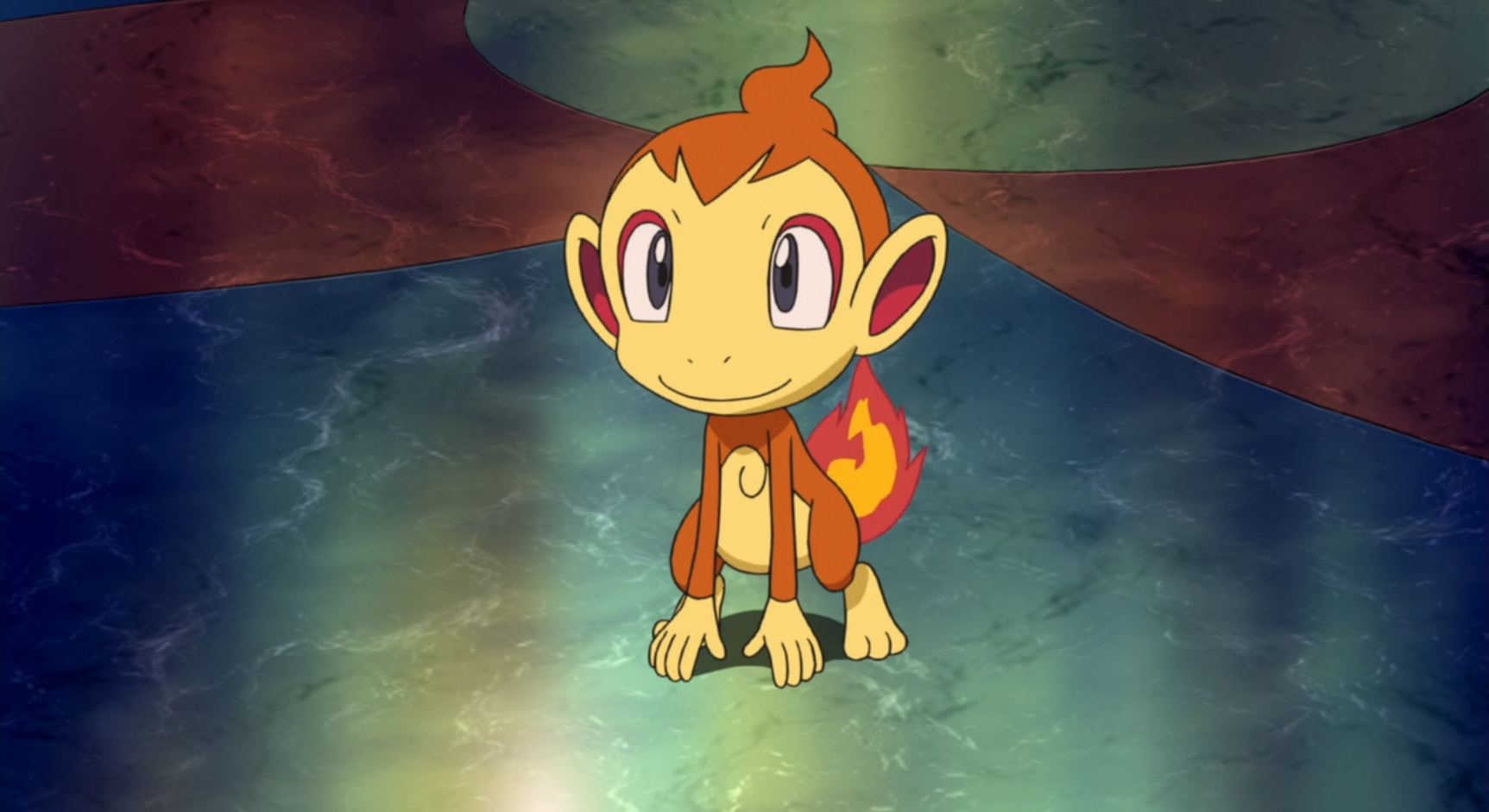 Alice's Chimchar helps her heat the air for her balloon with its flames. It doesn't seem to stay in a Poké Ball. It befriended Ash's Pikachu and Dawn's Piplup when they were in Alamos Town.