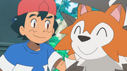Ash and Lycanroc