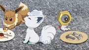 Sandy, Snowy and Meltan