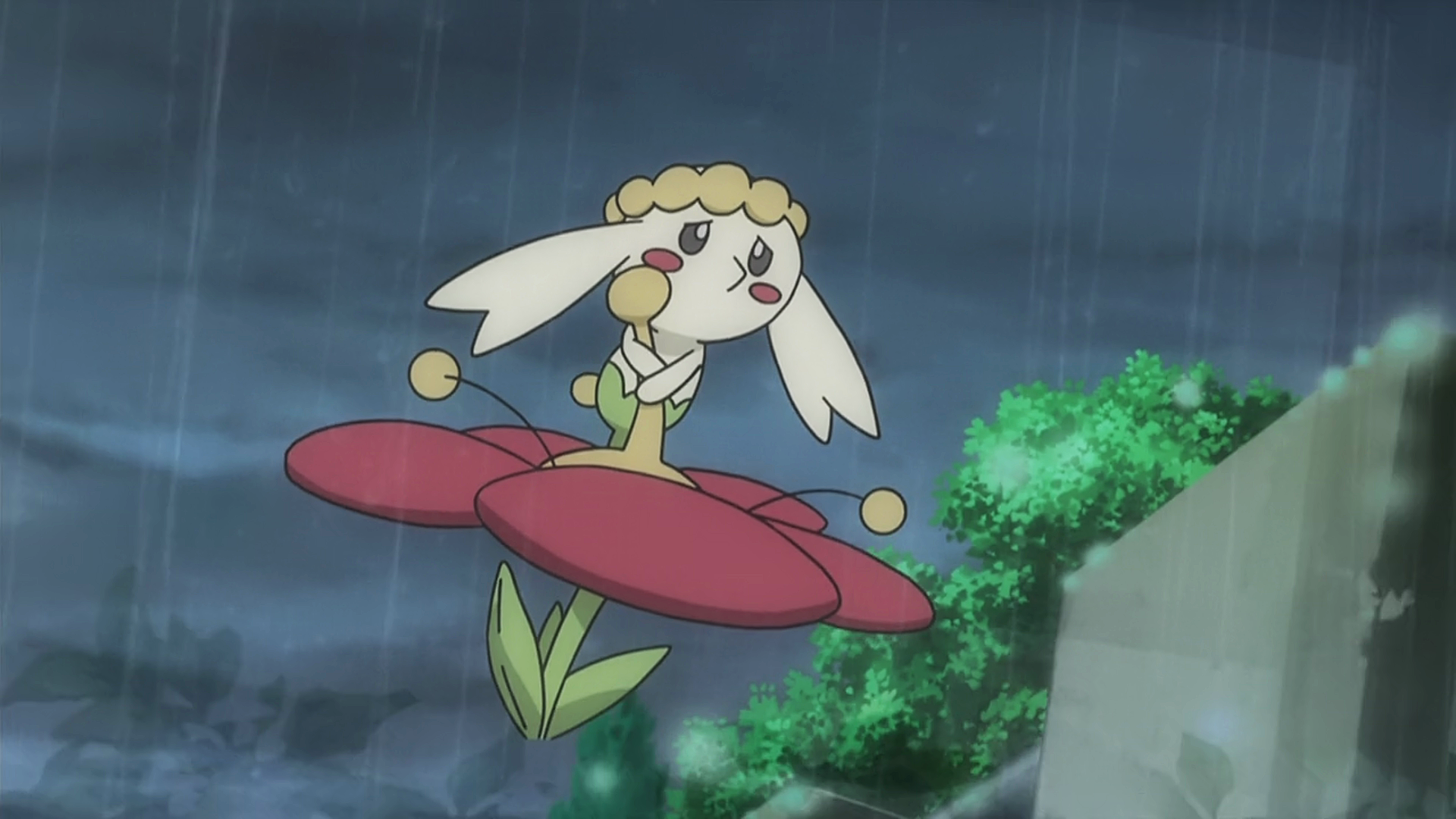 Flabébé was first seen befriended by Bonnie who thinking it was wild, wanted Clemont to catch it only finding it belonged to a Trainer.